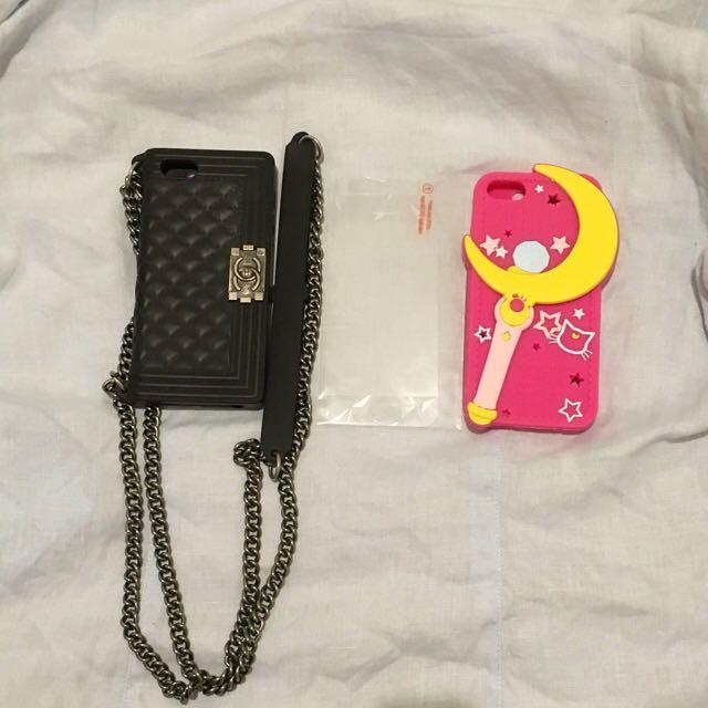 Iphone5s 整組售 菱格紋小香 美少女戰士 手機殼