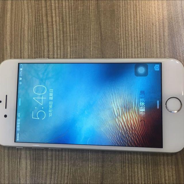 iPhone 128g 銀色