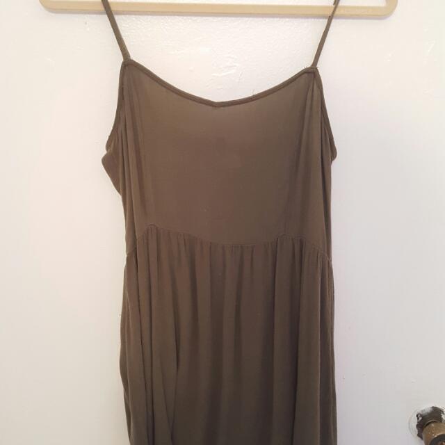 Khaki Green H&M Dress