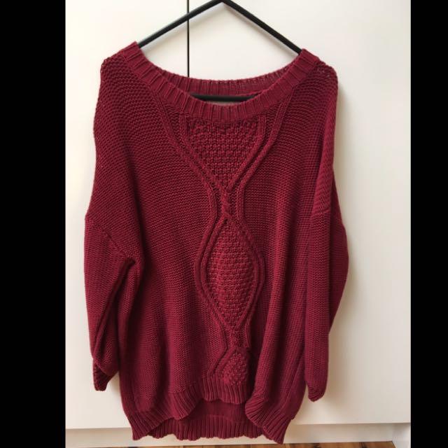 Maroon Knit