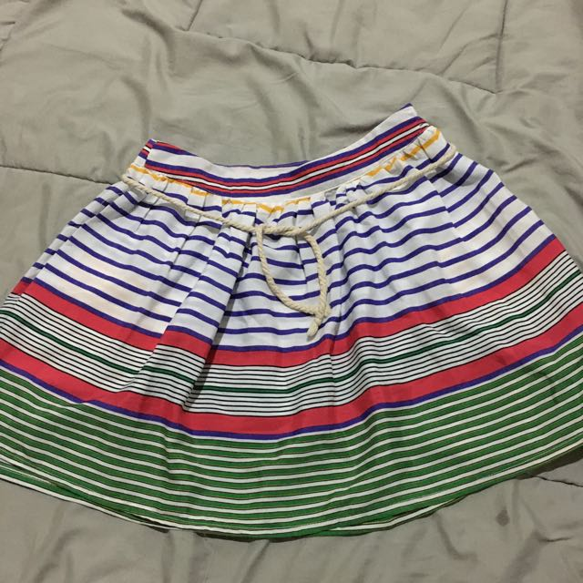 Multicolor Stripes Mini Skirt