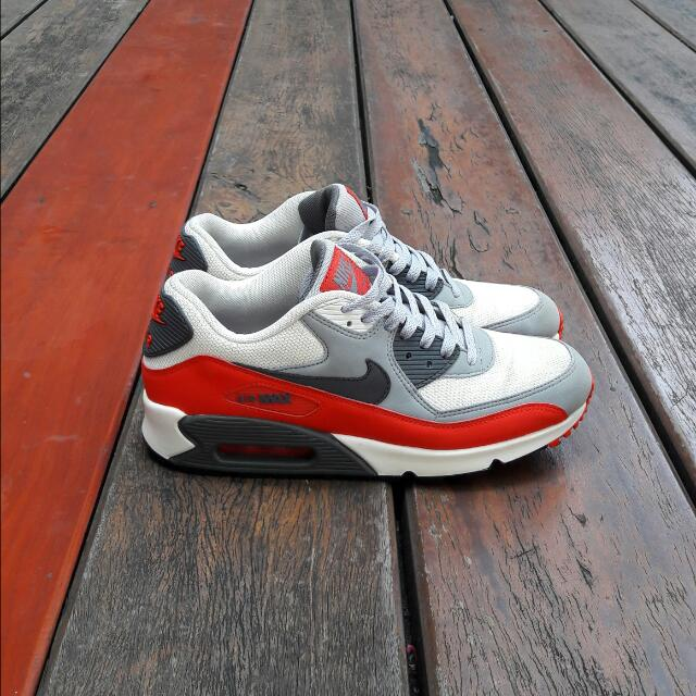 Nike Airmax 90 Red & Grey Line