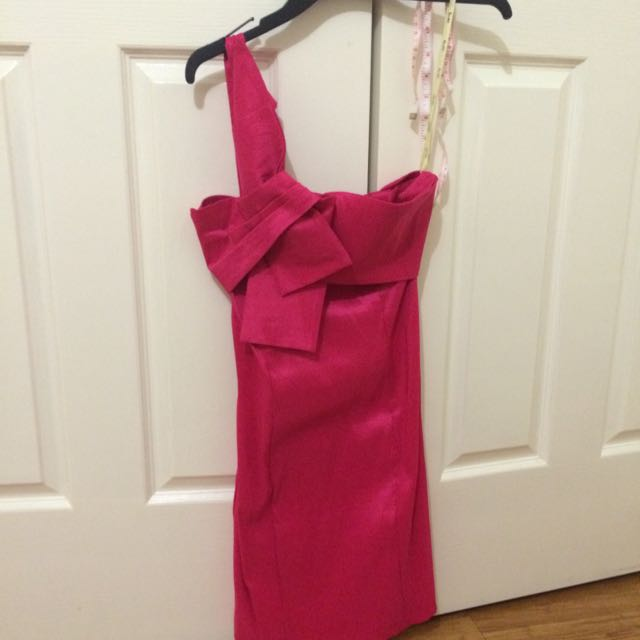 Pink Bardot One Strap Dress