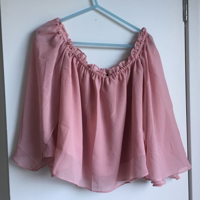 Princess Prolly Off Shoulder Pink Top