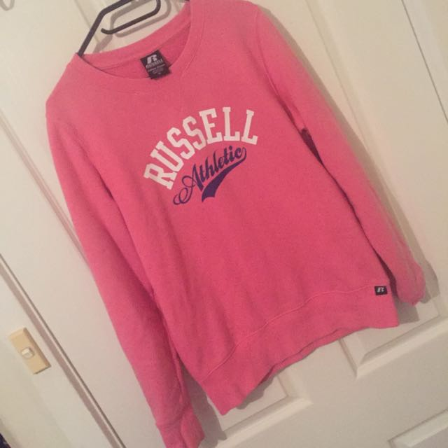 Russell Athletics Pink Jumper