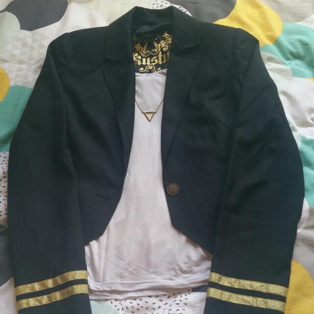 Rusty Cropped Blazer Size 10