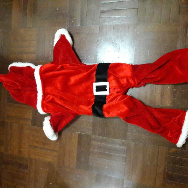 santa costume for dog