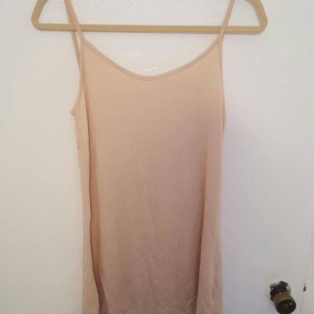 Short Nude Slip Dress