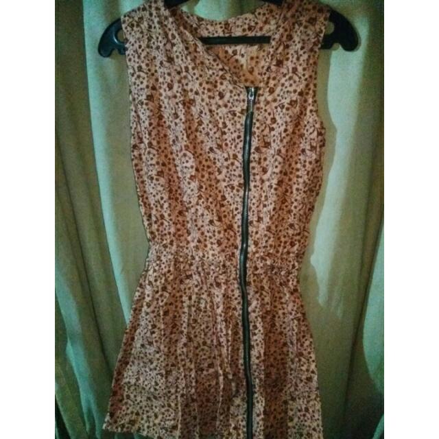 Skintone Floral Dress