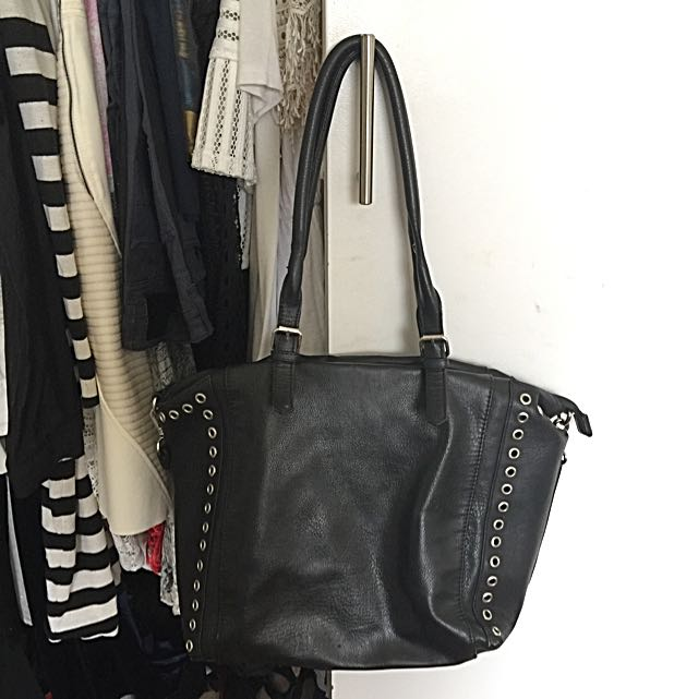 Sportgirl Black Faux Leather Bag
