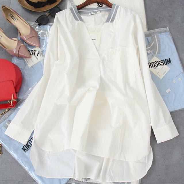 Stylish Design White Top