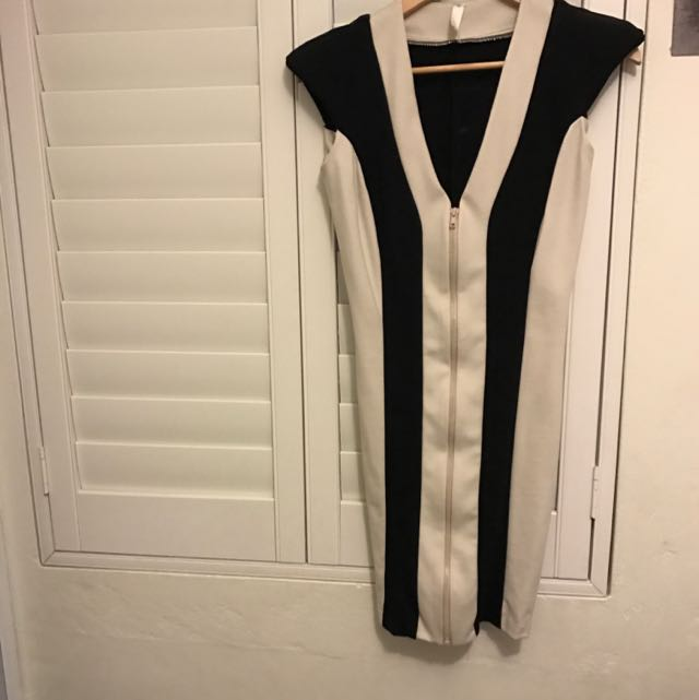 Tali Roth Genuine Off White With Black Stripes.