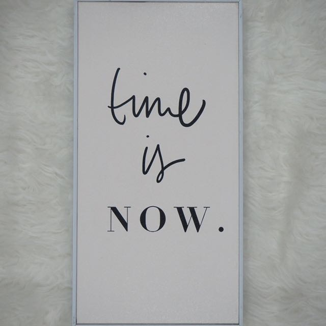"""Time Is Now"" Art Decoration"