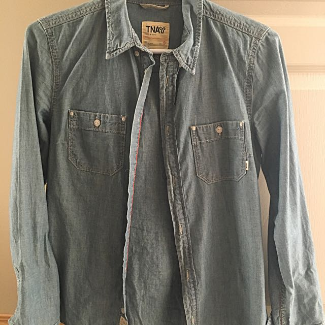 TNA Denim button up size SMALL