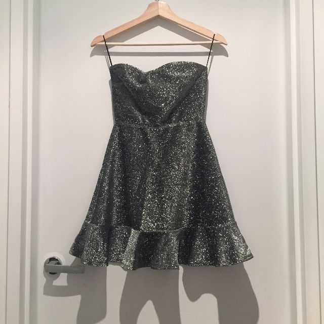 Topshop silver dress size 8