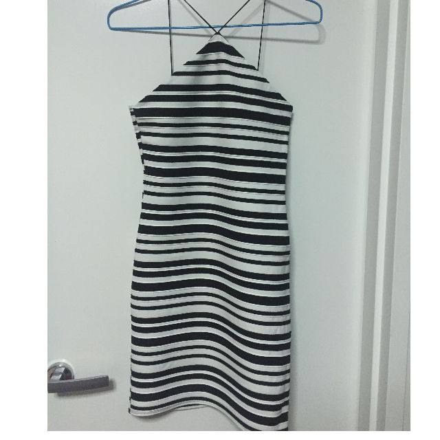 Topshop striped dress size 6