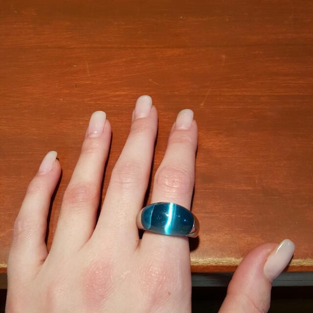 Unique Blue Ring