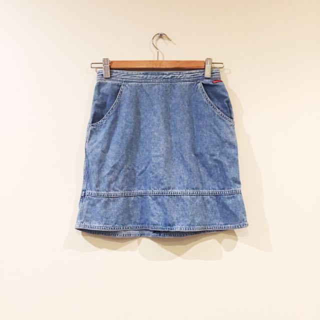 Vintage Sportsgirl Denim Blue Skirt Size 6