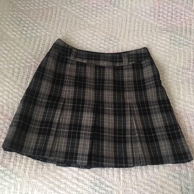 Warm Plaid Skirt