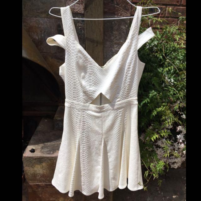 White Off The Shoulder Dress Stylestalker