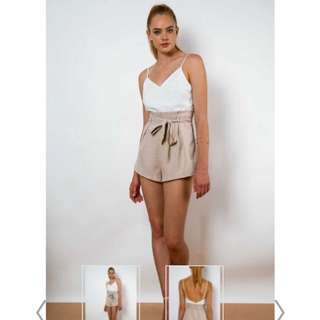 White/Beige Playsuit