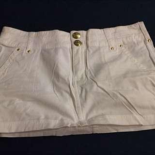 Adidas 休閒白色短裙