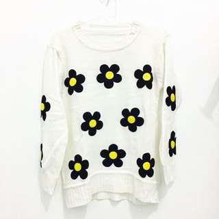 Daisy Crop Sweater
