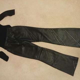 Leather Pants By Castro (Israel) Size S.