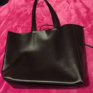 Philosophy Faux Leather Tote Bag