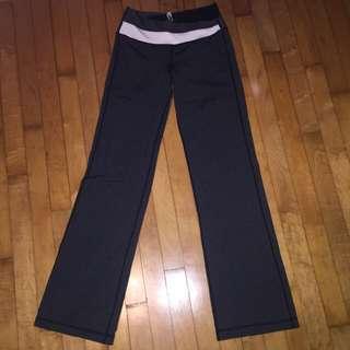 Lululemon Grey/black Yoga Pants