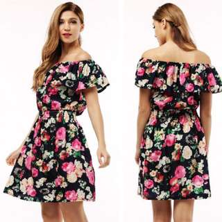 Off The Shoulder Flowery Summers Dress
