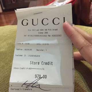 Gucci Store Credit