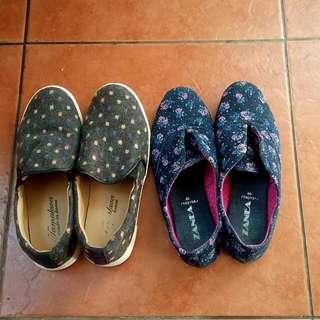 Floral Blue Shoes