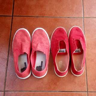 Fila & Bench Red Shoes