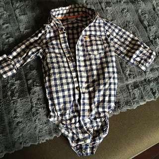 Dress Shirt Bodysuit