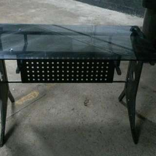 Desk W/ Smoked Glass Top