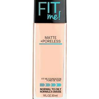Maybelline Fit Me Matte Poreless Foundation (120 classic ivory)