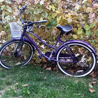Purple Huffy Cruiser Bike