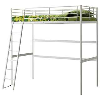 Ikea Loft/Bunk bed white Double size frame only