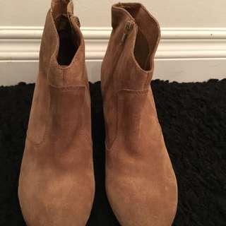 Aldo Tan Suede Ankle Boots