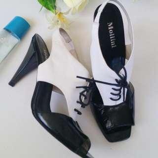Mollini Leather Heels Size 8.5 (39)