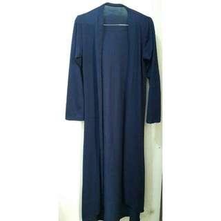 Blue Long Cardi