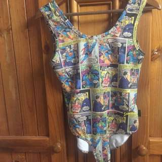 Superman Comic Book Print Bodysuit