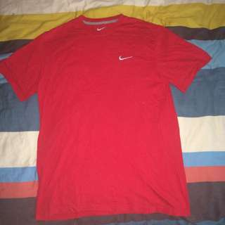 Nike Authentic Regular Fit T Shirt- RED