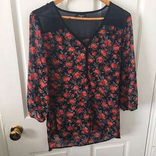 Sheer Floral Top Jeanswest