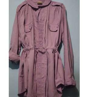 Kode : Outer shirt purple