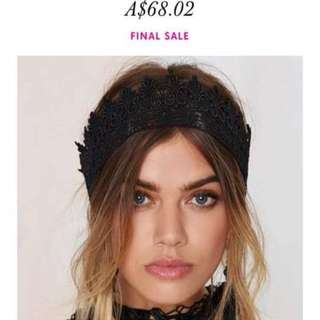Black Lace Headband Perfect For The Races