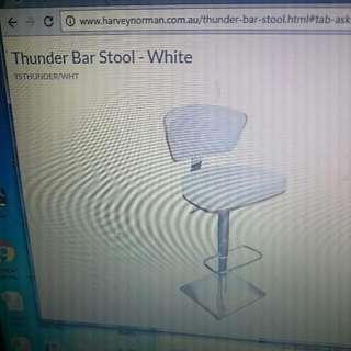 2 Leather Bar Stools, Thunder Model.