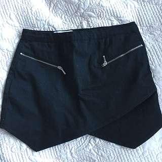 GLAMOROUS: Black Mini Skirt (XS)