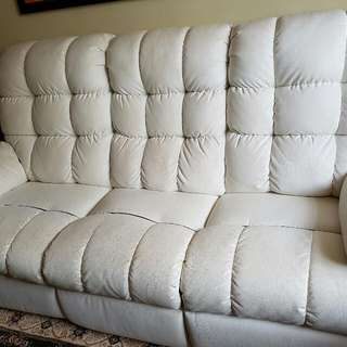(Reserved) Seasoned 3 Seaters Leather Recliner Sofa